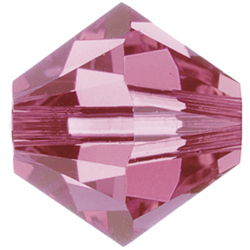 BULK 4mm Rose Swarovski® Bicones