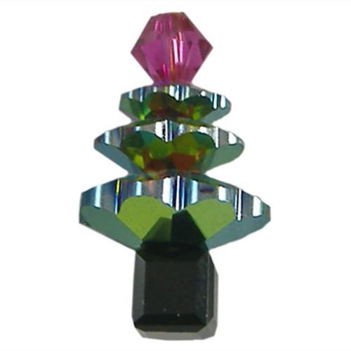 BULK Crystal Vitrail/Jet/Fuchsia Swarovski® Christmas Tree Sets