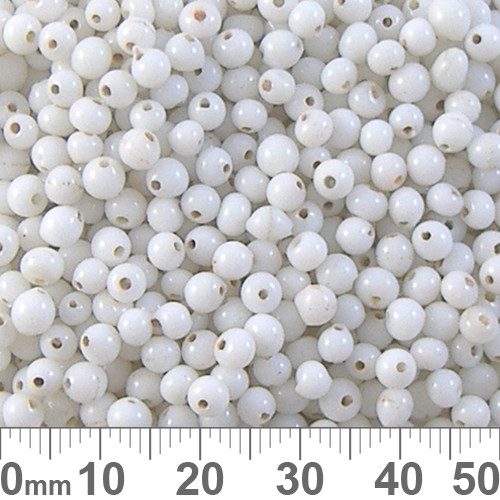 Opaque White 4mm Round Glass Beads