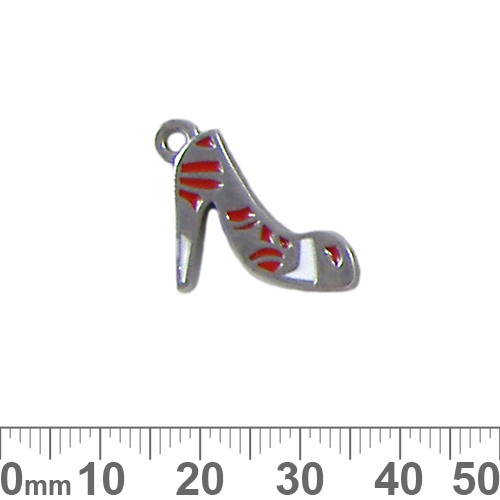 Red Heels Enamel Metal Charm