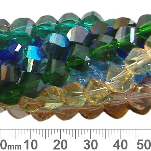 BULK Mixed 7mm Helix Glass Crystal Strands