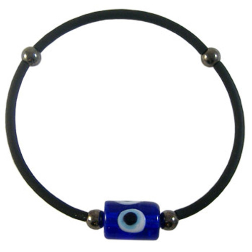 Simple Black Stretchy Evil Eye Bracelet Kit