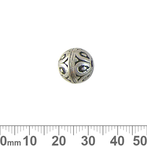 12mm Heavy Etched Round Metal Beads