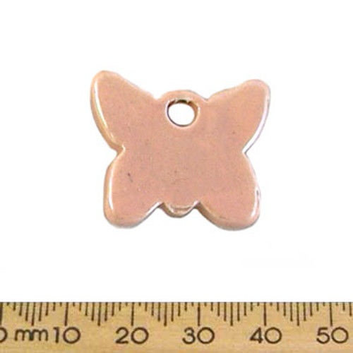 28mm Peach Butterfly Ceramic Pendant