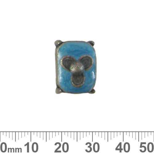 13mm Aqua Metal Resin 2 Strand Spacer Bead