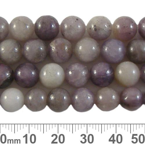 Lilac Stone (Quartz) 8mm Round Beads