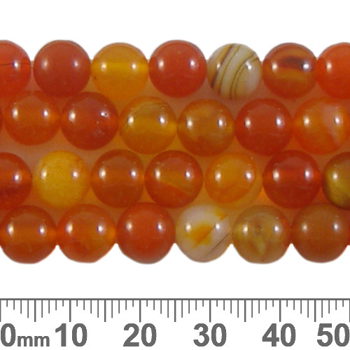 Carnelian Agate 8mm Round Beads (Dyed)