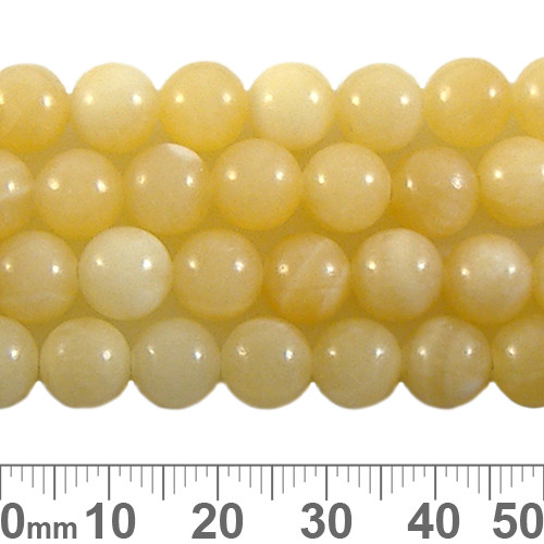 Butter Cream Agate 8mm Round Beads