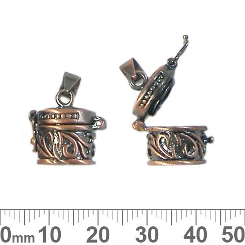 Medium Copper Hatbox Wish Box