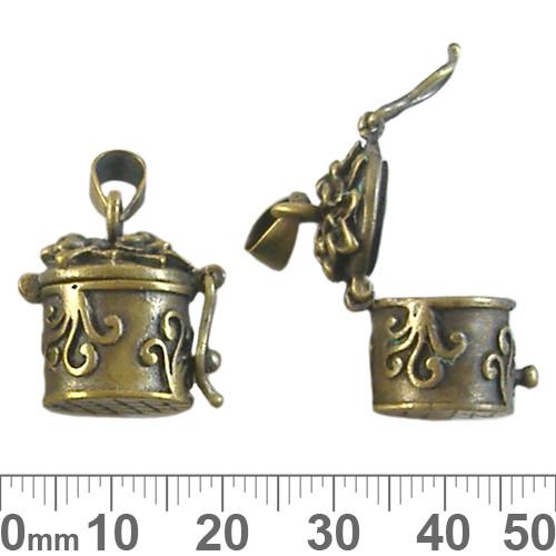 Tall Bronze Hatbox Wish Box