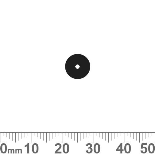 BULK 8mm Black Flat Round Ceramic Beads (10pcs)