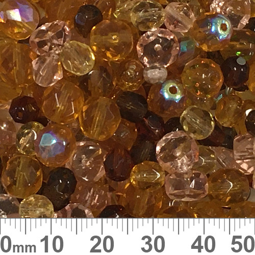 Brown Czech Glass Bead Mix