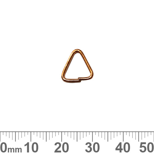 CLEARANCE Bright Copper Triangular Jump Rings