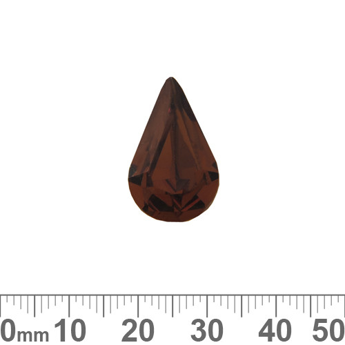 A+ Grade Pointed Back Smoked Topaz Pear Shaped Fancy Stone