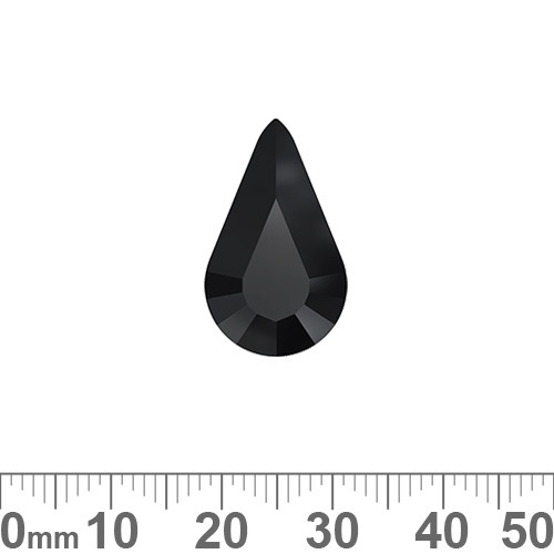 A+ Grade Pointed Back Jet Black Pear Shaped Fancy Stone