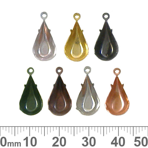 BULK Pear Chaton Settings (13mm)