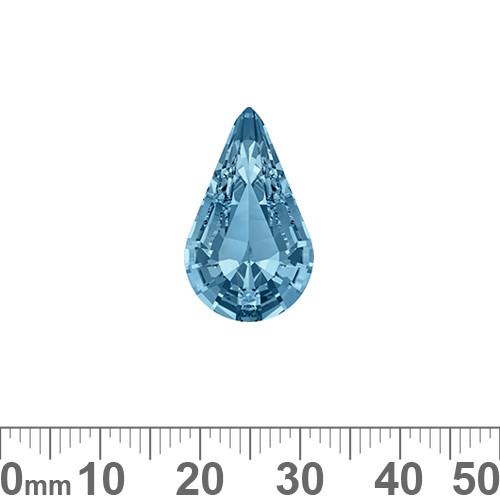 A+ Grade Pointed Back Aquamarine Blue Pear Shaped Fancy Stone
