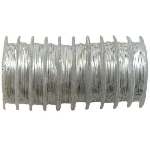 28 gauge BULK Beading Wire - 100m (Silver)