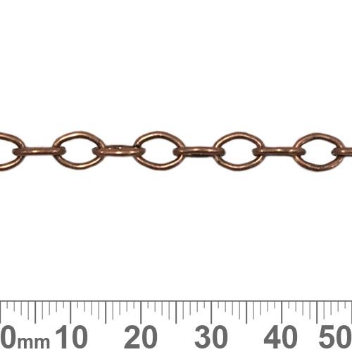 Copper 6.8mm Medium Oval Loop Chain