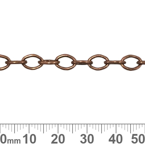 Copper 6.8mm Medium Oval Loop Chain
