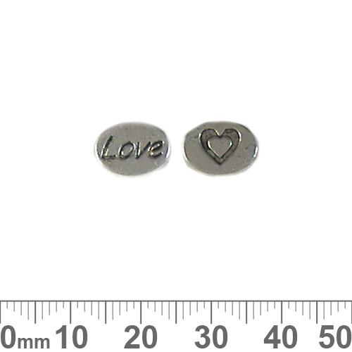 BULK 'Love' Metal Charm Beads