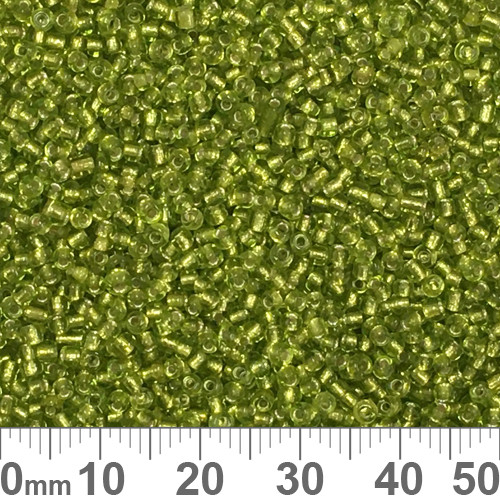 11/0 Lime Green S/L Seed Beads