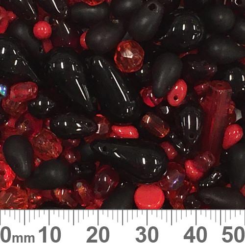 Vampire Red Czech Glass Bead Mix