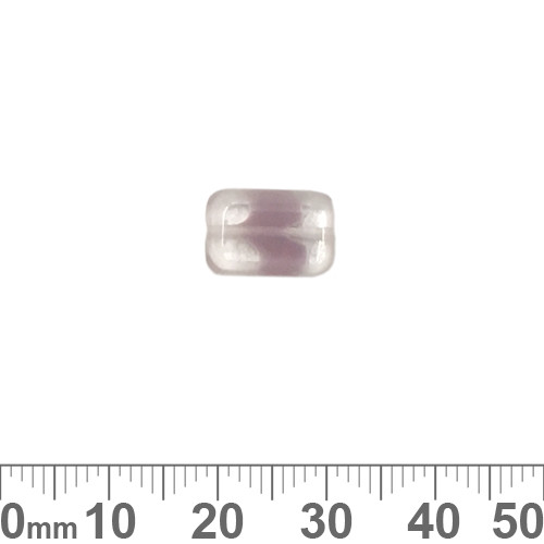 Pale Amethyst 12mm Flat Rectangle Czech Glass Beads
