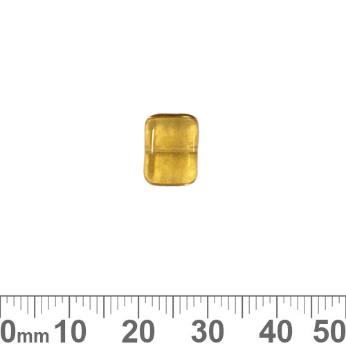 Honey 8mm Flat Rectangle Czech Glass Beads