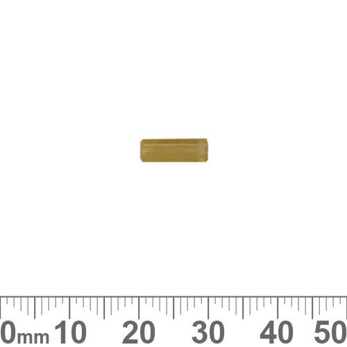 Pale Amber 10mm Rectangular Tube Czech Glass Beads