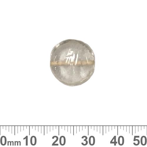 Clear Flat Disc Plain Glass Beads