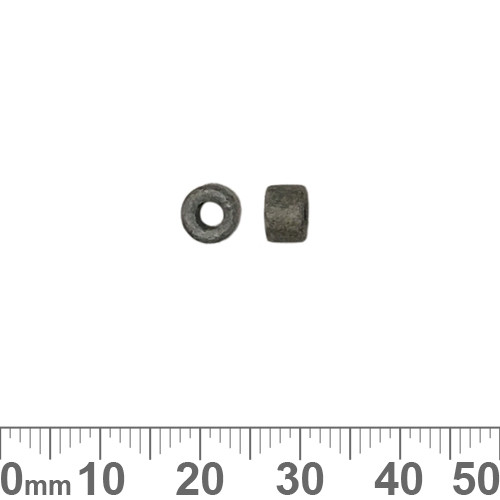 Matte Grey Greek Ceramic 4mm Tube Beads