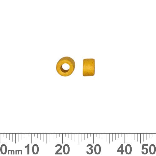 Matte Yellow Greek Ceramic 4mm Tube Beads