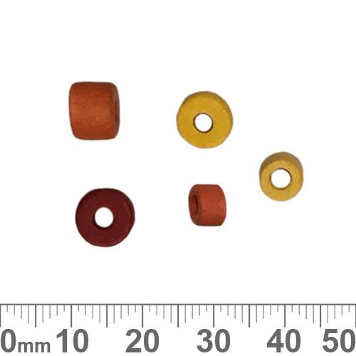 Matte Golden Red Greek Ceramic Bead Mix