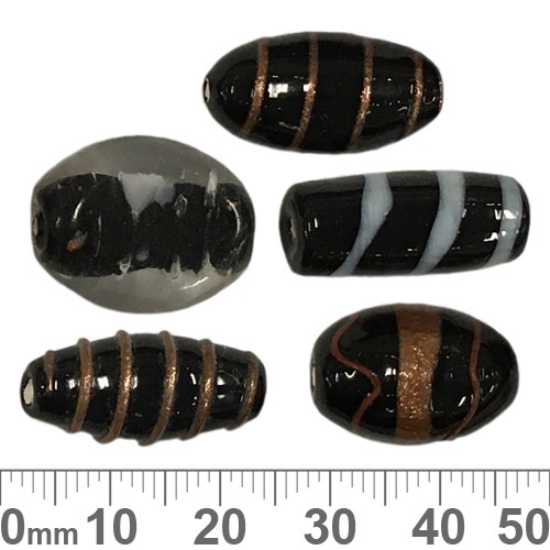 Black Fancy Glass Bead Mix