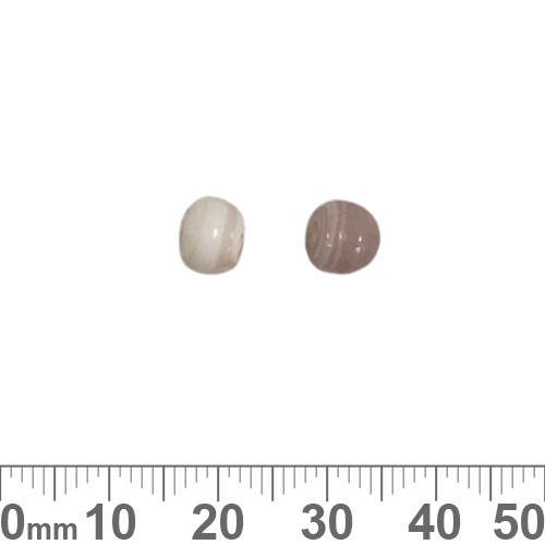 Opaque White/Pale Rose Purple 6mm Round Glass Beads