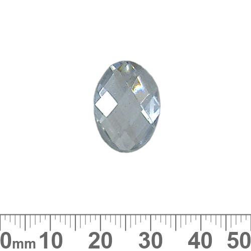 BULK 18mm Oval Faceted Plastic Diamantes