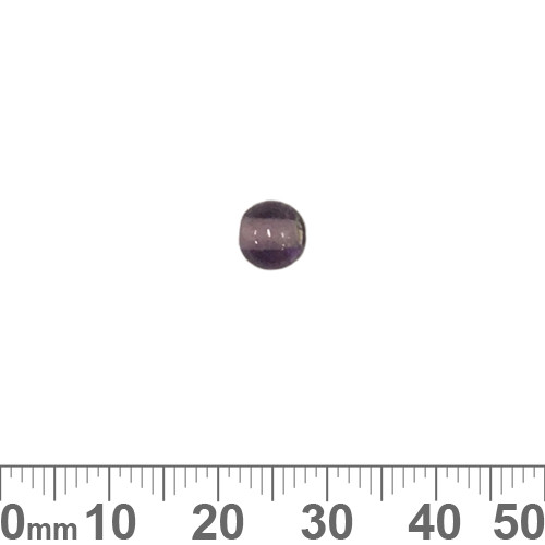 Purple 6mm Round Glass Beads