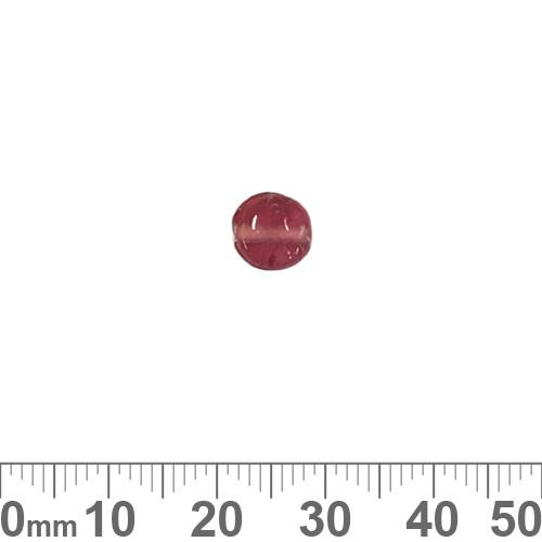 Fuchsia Pink 7mm Flat Disc Glass Beads