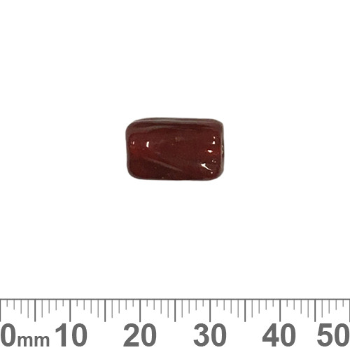 Dark Red 14mm Twisted Rectangle Glass Beads