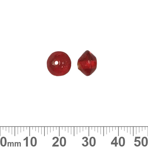 Red 8mm Rondelle Glass Beads
