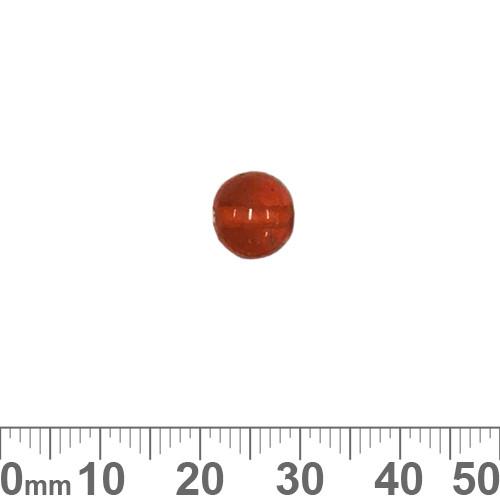 Orange 8mm Round Glass Beads