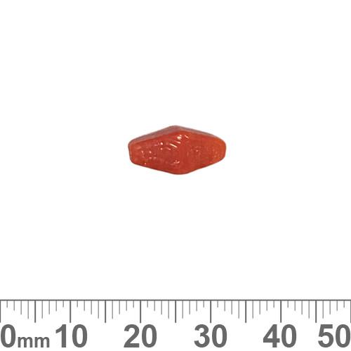 Opaque Deep Orange 14mm Diamond Glass Beads