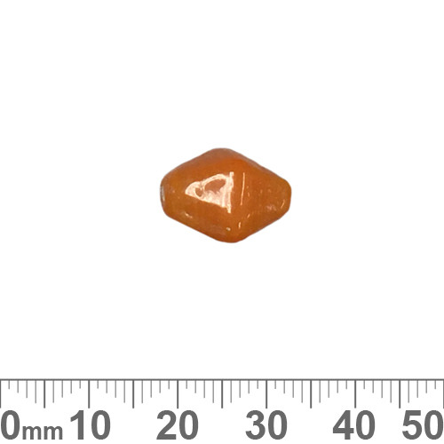 Opaque Orange 16mm Diamond Glass Beads