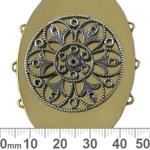 Three Strand Oval Centrepiece Metal Pendant