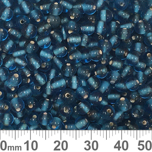 Dark Aqua 4mm Round Glass Beads