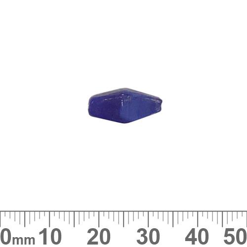 Opaque Cobalt Blue 15mm Diamond Glass Beads