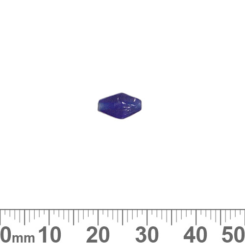 Dark Blue 9mm Diamond Glass Beads