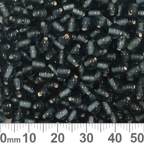 Grey Blue 5mm Round Glass Beads