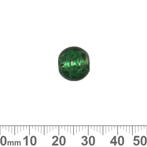 Dark Green S/F 12mm Round Glass Beads